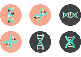 Dna Double Helix Vektor Icons