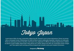 Tokyo skyline vektor illustration