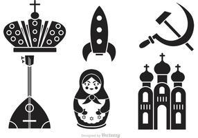 Ícones do vetor da cultura russa
