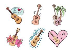 Série livre de vetores de ukulele