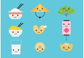 Cute Chinese Vector Characters