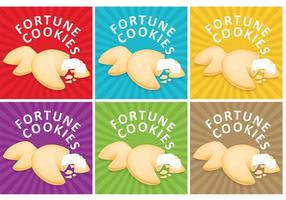 Sunburst Fortune Cookie Vector Backgrounds