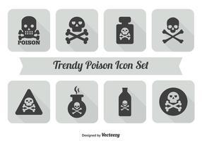 Conjunto de iconos de veneno