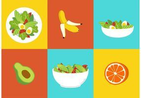 Gesunde Ernährung Lebensmittel Vektoren