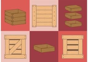 Vectores de cajas de madera