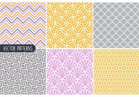 Funky Geometrische Patroon Vector Set
