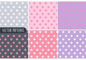 Sketchy Polka Dot Vector Patterns
