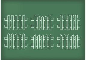 Vecteurs de clôtures de piquets dessinés