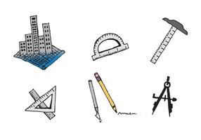 Gratis Architectuur Tools Vector Series