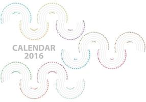 Vector Waves Calendar 2016