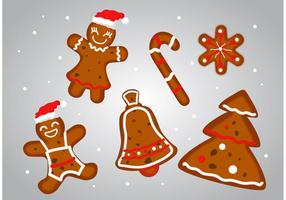Vectores de postre de Navidad de pan de jengibre