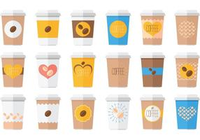 Iced kaffedryck vektor pack