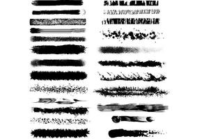 Zwart-wit getextureerde vectorborstels