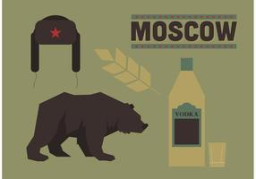 Símbolos da Rússia Vector grátis