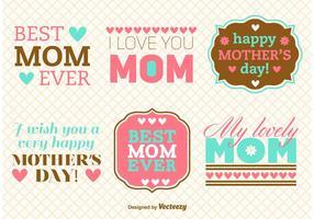 Vecteurs de message de la fête des mères