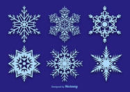 Snowflake-vector-decorations