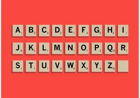 Scrabble Letter Fliesen Set