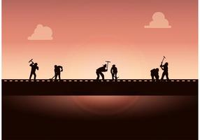 Working-on-the-railroad-free-vector-background