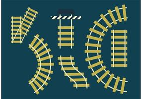 Diy railroad tracks set