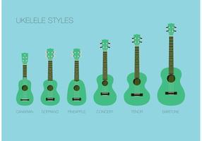 Ukelele styles vecteur gratuit