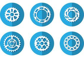 Bike Sprocket Vector Icons