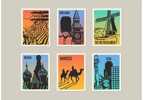 Free Landmark Vector Posters