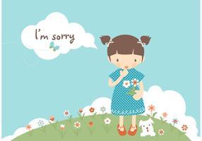 Gratis Jag är ledsen kortvektor