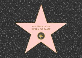 Livre hollywood walk of fame vector