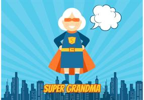 Superhero Grandma Vector