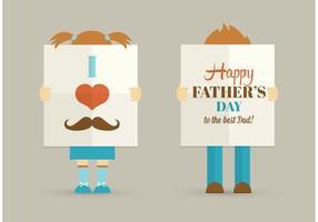 Cartel libre del vector del día de padre