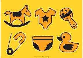 Baby Toys Cutting Icons vector