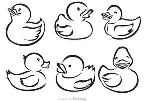 Rubber Duck Outline Vectoren