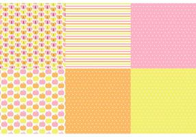 Butterfly Polka Dot Vector Pattern Set