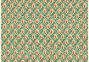 Pretty Peacock Pattern Vector