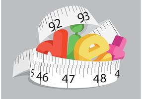 Vector de conceito de dieta