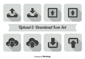 Upload en download pictogram set