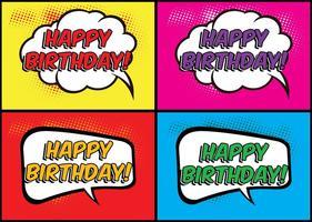 Etiquetas cómicas del cumpleaños del estilo