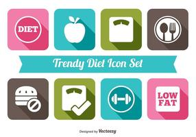 Trendy diet icon set