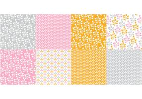 Conjunto de vetores de padrões de laranja e flora