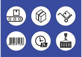 Iconos del vector del envío