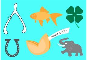 Vecteurs de symboles de bonne chance