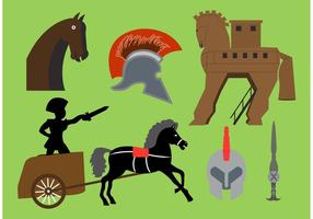 Éléments vectoriels du cheval de Troie