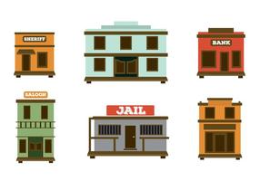 Old Western Town Vectors