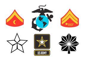 Vecteurs américains des corps marins