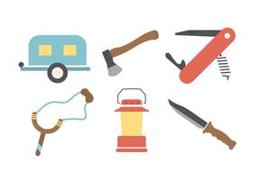 Vintage Camping Vector Elements
