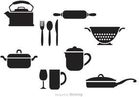 Zwarte Vintage Keukenvectoren