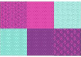 Paars en Mint Pattern Vector set