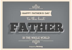Typographic Father's Day Poster vector