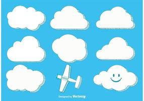 Trendy Stylish Vector Clouds
