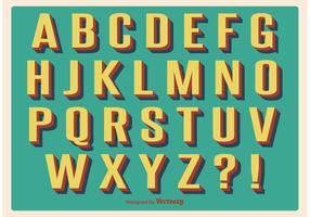 Conjunto de alfabeto retro vintage